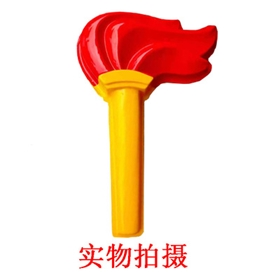 中国风LED户外异型吸塑国旗革命火炬灯双面发光路灯杆装饰景观