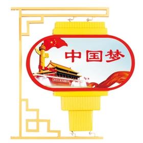 广告灯箱led光源国旗中国结户外防雨装饰景观现代太阳能灯杆灯