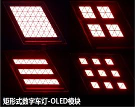 矩形式数字车灯-OLED模块