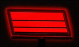 OLED深红光汽车尾灯 深红光