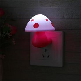 柯丽雅LED夜灯蘑菇灯省电光控小夜灯插电式批发智能礼品礼物定