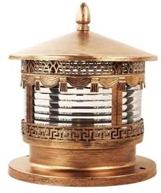 尚仁 圍墻古風銅柱頭燈
