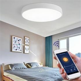 超薄5CM方形极简现代卧室灯涂鸦智能LED吸顶灯