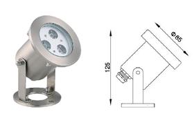 結構防水水底燈-1
