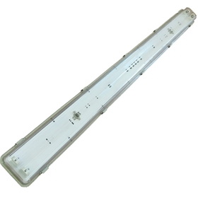 三防灯灯具套件 T8T5灯管支架 1.2米PC罩防尘 应急灯