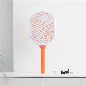 工厂高品质强力电蚊拍带COB LED可充电灭蚊拍