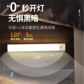 新款LED磁吸充电人体感应灯橱柜灯小夜灯